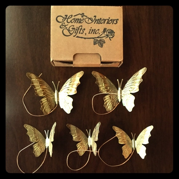 Other - Home Interiors Vintage Butterflies Metal Wall Art